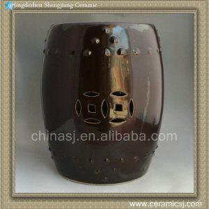 RYNQ72 17inch Solid glazed Ceramic Stool