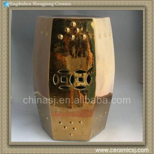 18.5inch Gold Ceramic Stool