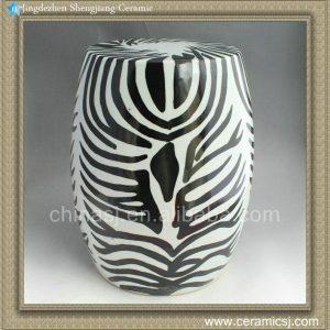 RYNQ80 17inch Hand painted Zebra Stool
