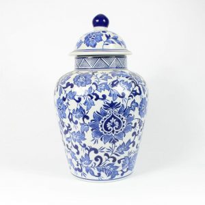RYPU15 Blue and white Temple Jar 14inch