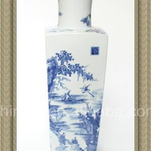 RYQQ12 19inch Hand painted Blue White Ceramic Vase