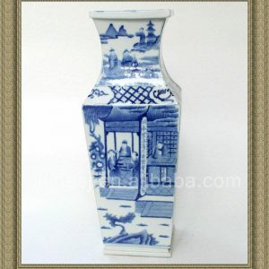 RYQQ15 18inch Qing dynasty reproduction Blue White Ceramic Vase
