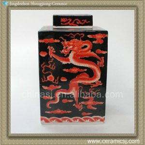 RYQQ22 Hand painted dragon design Qing dynasty reproduction Ceramic Jar