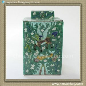 Chinese kylin design Qing dynasty reproduction Square Jar