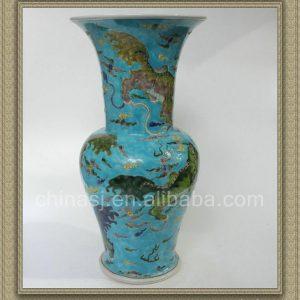 RYQQ26 17inch Plain tricolour Ceramic Trumpet Vase