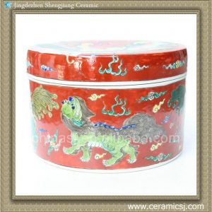 RYQQ48 10inch Hand painted Chinese Porcelain Box
