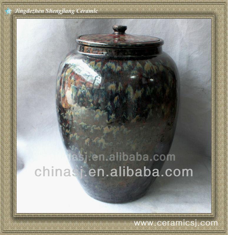 RYWO13 black porcelain jar with lid