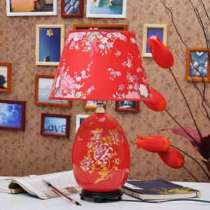 TYLP105 Chinese Red Ceramic Lamp