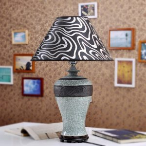 TYLP12 Meiping crackle Ceramic Lamp