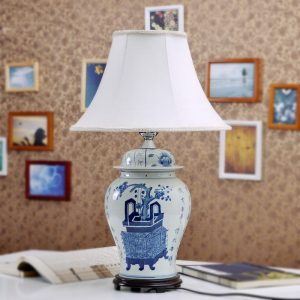 TYLP19 Chinese Blue and white Porcelain Table Lamp