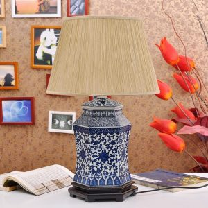 TYLP24 Chinese Blue and White Porcelain Lamp