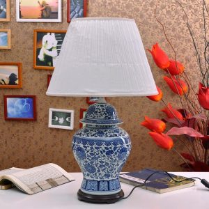 TYLP26 Chinese Blue and White Ceramic Lamp