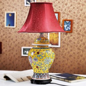 TYLP38 Chinese Famille rose Ceramic Table Lamp