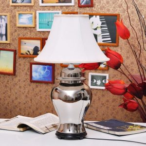 TYLP65 Silver Ginger Jar Lamp chrome plated