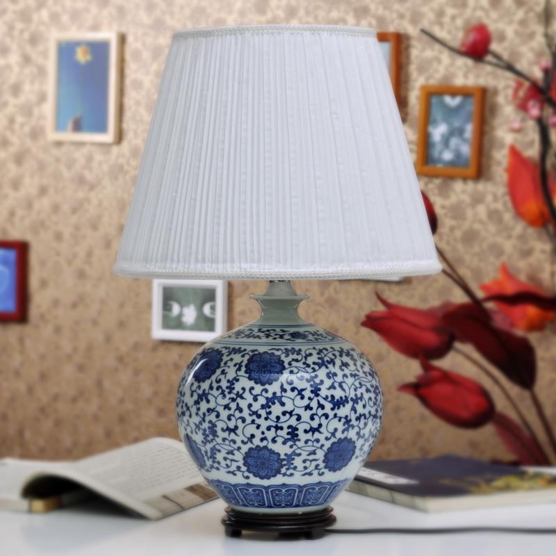 Tylp86 blue white table lamp jingdezhen shengjiang ceramic co tylp86 mozeypictures Choice Image