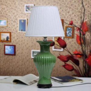 TYLP92 Green fishtail Ceramic Lamp