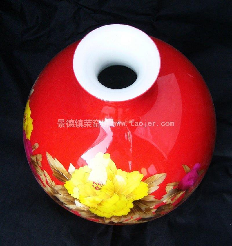 WRYCW26 Home Decoration Red Ceramic Vase