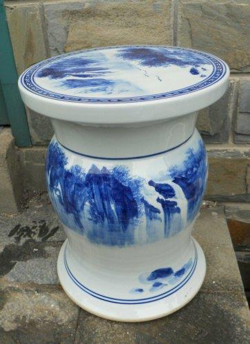 WRYAZ327 blue and white hand painted ceramic garden stool