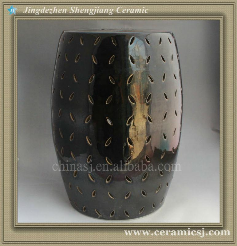 RYNQ81 Modern Lattice Ceramic Garden Stool