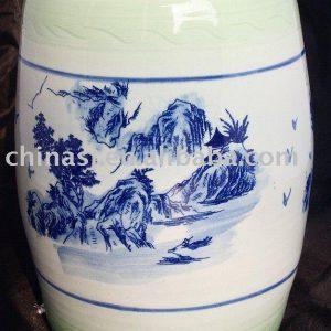 WRYAY202 Celadon green Ceramic Garden Seat 36*24cm