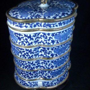 WRYFH01 blue and white ceramic snack box