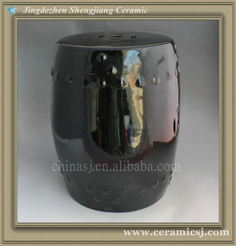 Black Ceramic Garden Stool WRYAZ208