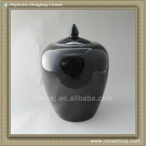 RYNQ45 12inch Porcelain Black Melon Jar