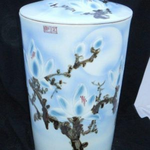 WRYKB23 h60*d31cm rice storage porcelain jar with lid