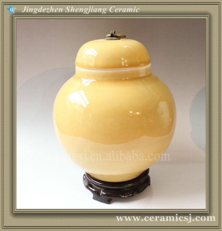 RYVZ02 Mini black airtight ceramic candy jar