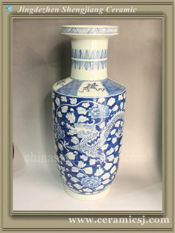 RYWG08 large blue and white ceramic vase wholesale