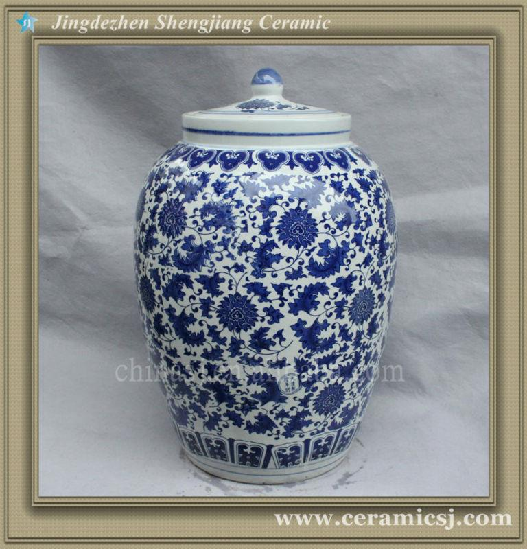 RYSV22 Asian blue and white storage cheap jar and bottle