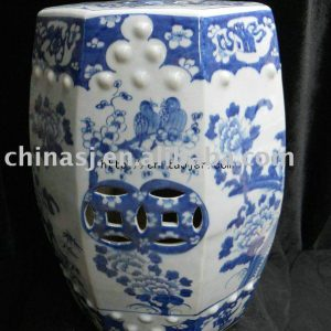 WRYLU01 Chinese blue and white ceramic Garden Stool