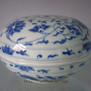 Chinese Blue and White Porcelain Inkpad Box RYAS46