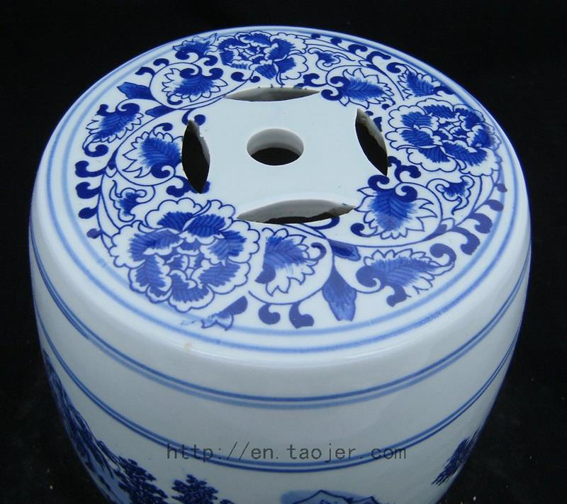 WRYAZ205 Chinese blue and white Porcelain Garden Stool