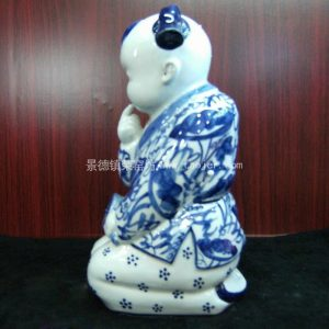 chinese blue and white Porcelain doll figurine WRYEQ03