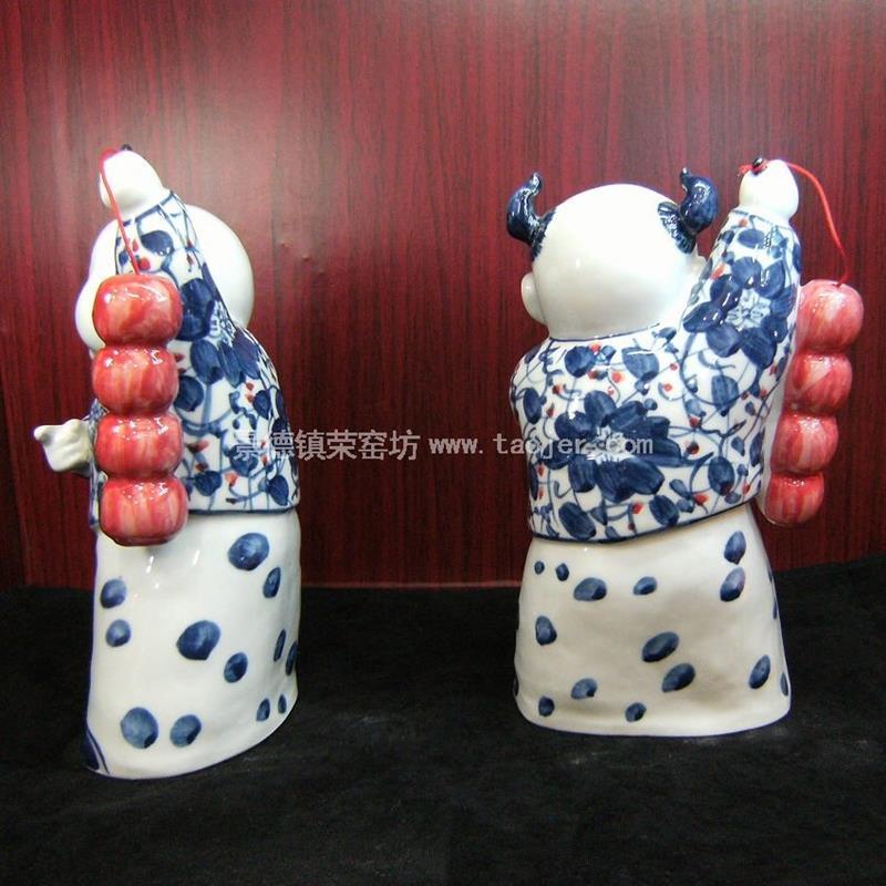 Chinese Ceramic Children Figurine WRYEQ01