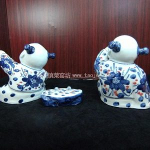Chinese Ceramic Children Figurine WRYEQ02