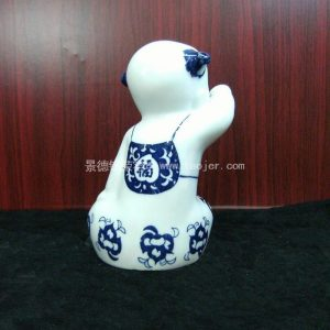Chinese blue and white children porcelain figurine WRYEQ08