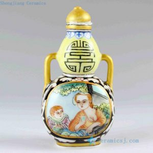 RZCH02 h9cm Hand painted Porcelain Snuff Bottle