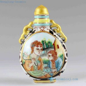RZCH04 Hand painted Ceramic Snuff Bottle