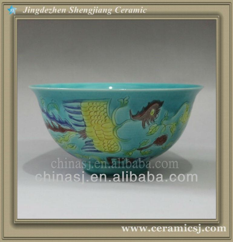 RYJN03 oriental blue antique ceramic bowl