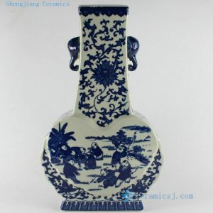 "RYTM07 15"" Blue and white Children ceramic vases wholesale"