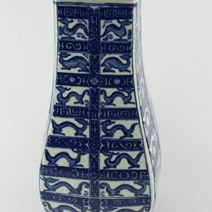 "RYTM10 H14"" Blue white Chinese porcelain vase"