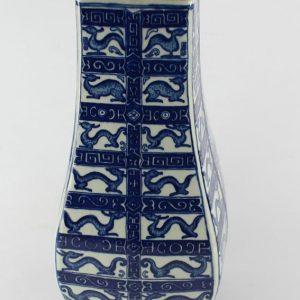"""RYTM10 H14"""" Blue white Chinese porcelain vase"""