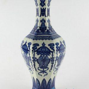 "RYTM21 H14.8"" Antique chinese porcelain vases fish design"