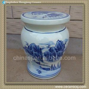RYAZ335 H40cm Jingdezhen Blue and White living room furniture garden stool