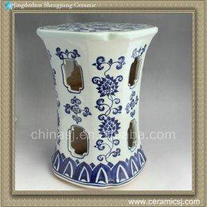RYAZ336 H16.5inch Jingdezhen Blue and White stool seat