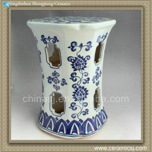 RYAZ336 H16.5inch Jingdezhen Blue and White stool seat