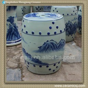 RYAZ339 H16.5inch Blue and White China Bar Stool