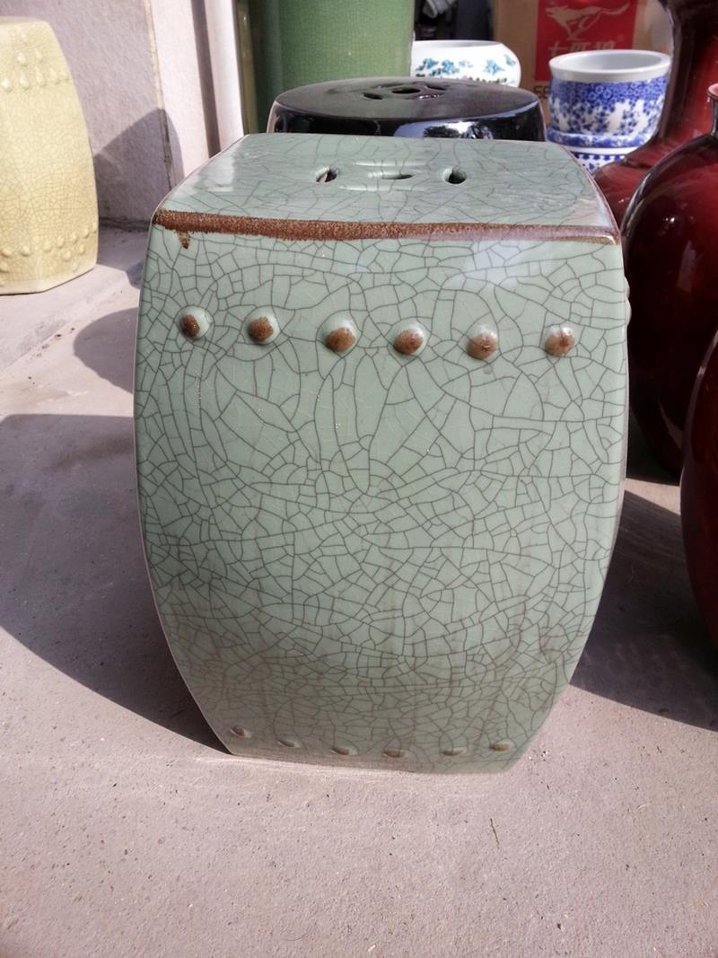 Ryhd21 16 Green Crackle Ceramic Garden Stool Jingdezhen